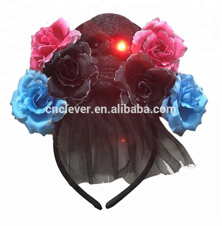 Ingenious 1pc Glowing Wreath Halloween Crown Flower Headband Children Girls Led Light Up Hair Wreath Hairband Garlands For Christmas Party Accessories Girls' Baby Clothing