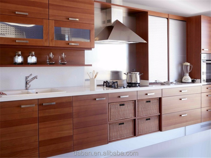 Good after-sales service 3d kitchen planner wood kitchens and sink taps