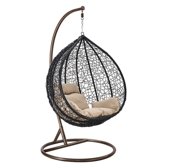 Merveilleux Outdoor Patio PE Rattan Swing Chair With Metal Frame Cheap Egg Shaped  Hanging Chair