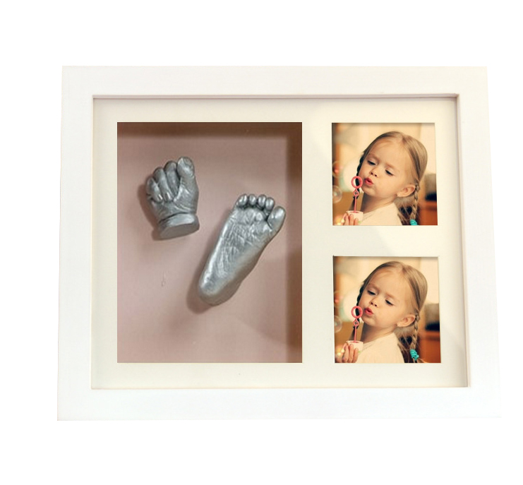 baby hand casting kit with photo frame for keepsake