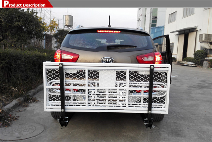 Hitch Mounted Folding Cargo Carrier Off Road Camping Car