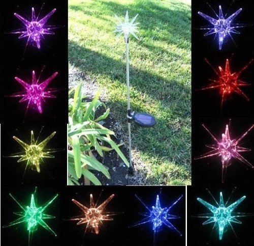 Solar Powered Starburst Garden/yard Decor Stake Color Changing LED Light