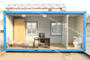 low cost container office/portable container house/living container house for sale