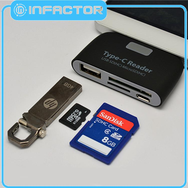 With good quality otg micro usb hub and card reader