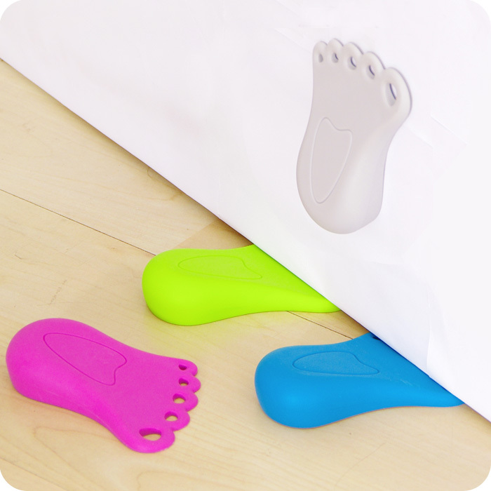 Necessary Cute Foot Pattern Kids Door Stopper Baby Safety Protector 1 Piece
