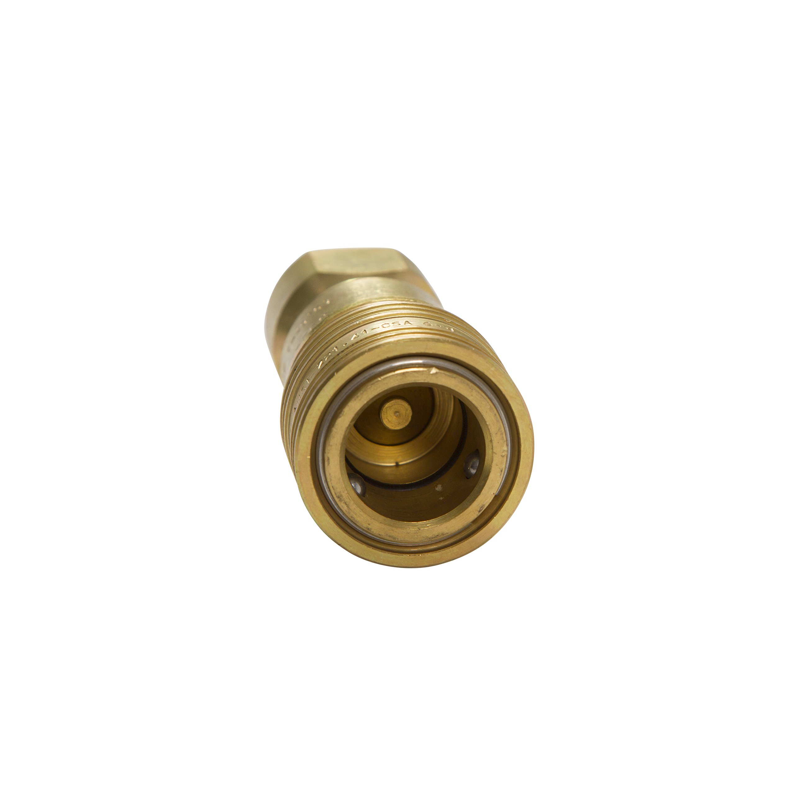 """1/2"""" Gas Fire Pit/ Heater BRASS HEAVY DUTY QUICK CONNECT/ DISCONNECT SUPPLY SIDE FOR PROPANE / NATURAL GAS (1/2"""" Quick Connect Female Supply Side)"""