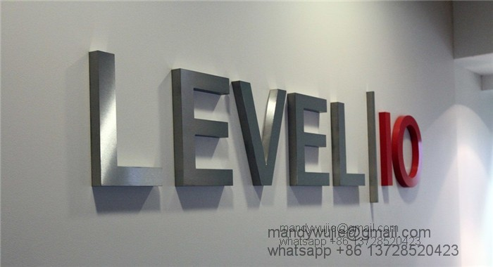Stainless Steel Letter with Metal Logo Display Stand as Signage