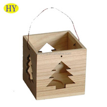 Natural Unfinished Custom Wooden Candle Lantern Wholesale