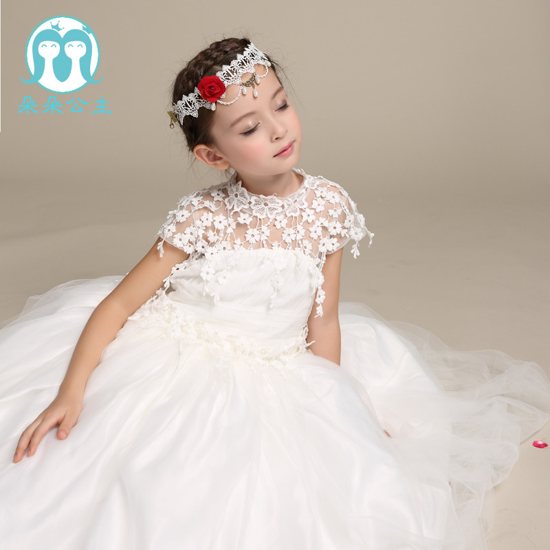 a4f381a7221 Very latest new model short sleeve girl first dress lace alibaba online  flower girl dresses with