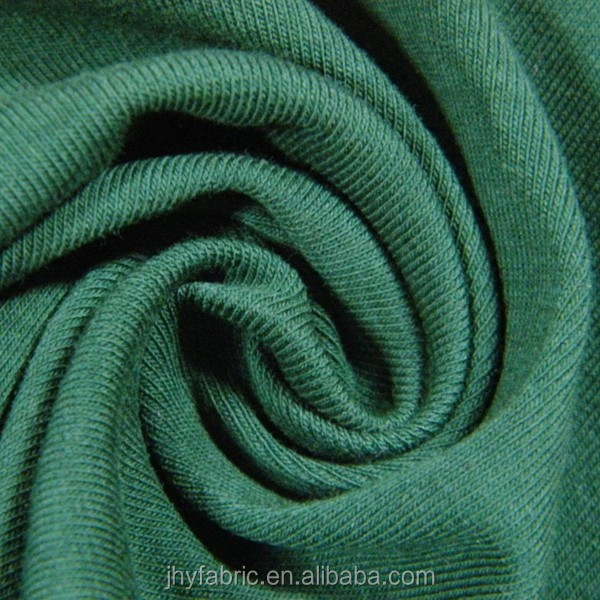 40s 91%cotton 9%spandex interlock rib <strong>fabric</strong> for T-shirt