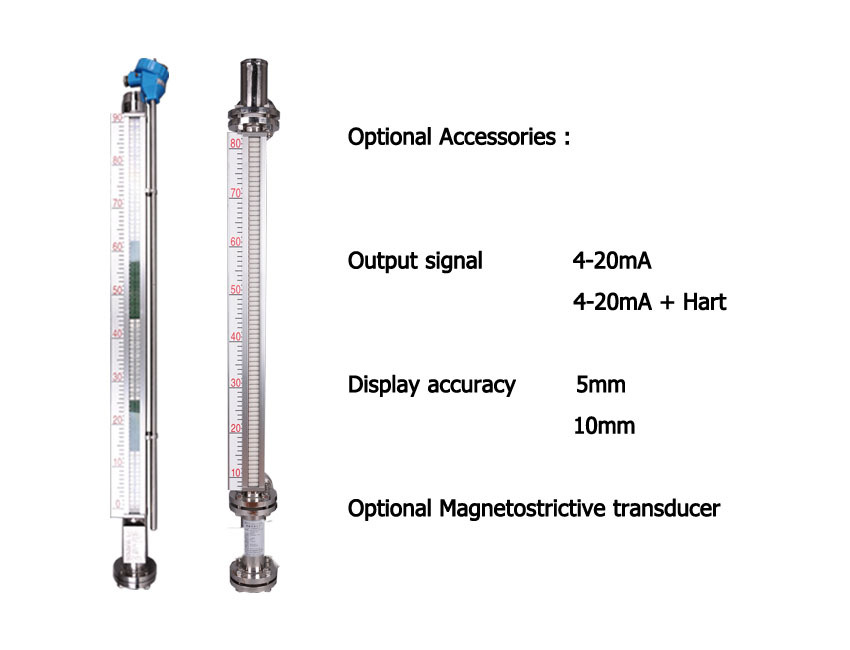magnetic liquid level gauge indicator magnetostrictive