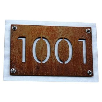 Laser Cut Metal Signs >> Laser Cut Outdoor Rusted Metal Signs House Number Buy Outdoor