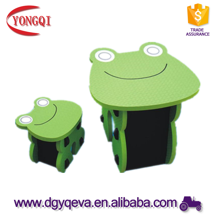 Frog Design Children Furniture Set Eva Foam Safety Table and Chair
