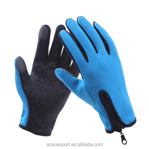 Personalized Winter Neoprene Gloves Bike and Fishing Outdoor Safety Glove