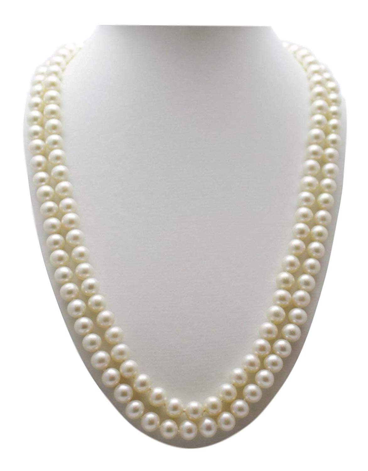 Shoppe23 Two Strand Pearl Necklace Set Elegant 6mm Pearls Bridal Bridesmaid Jewelry Boxed