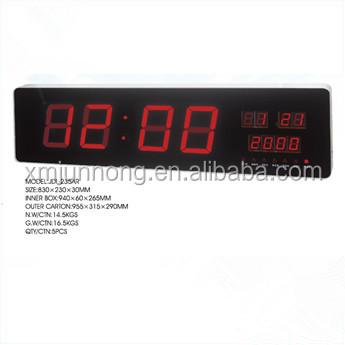 Giant Large Led Digital Wall Calendar Clock Buy Giant Wall Clock
