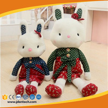 Custom pp cotton soft big stuffed cute bunny rabbit plush toy for gifts