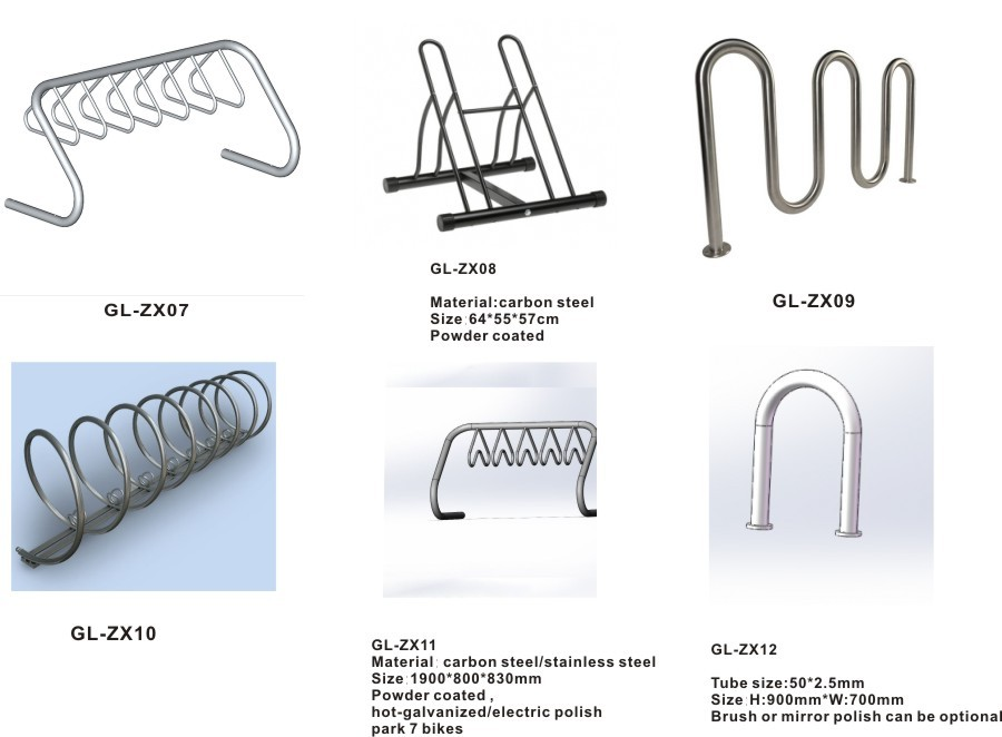 High quality double layer bike rack for parking rack