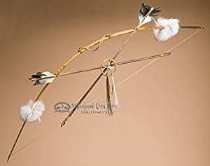 """Navajo Indian Peace Bow & Arrow Set 43"""" -Saddle"""
