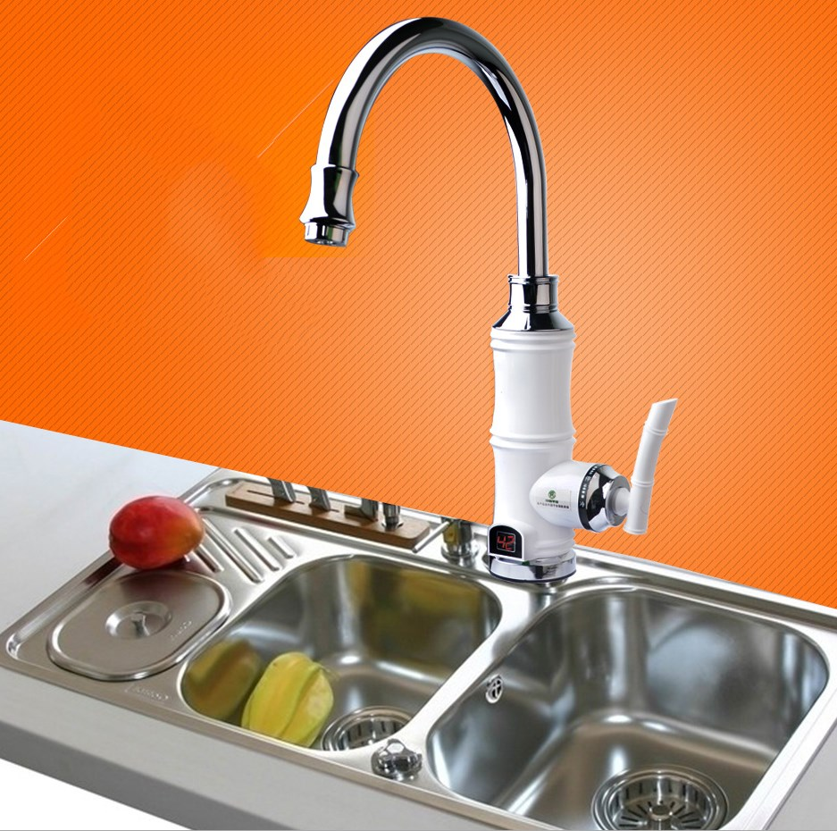 New Kitchen Fast Heating Electric Water TapTankless Water Heater Faucet