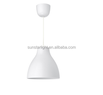 Lamps White Pendant Lights Modern Plastic Lamp Shade