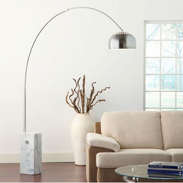 Modern Top Quality Nickel Arc Fishing Floor Lamp With Black Or ...