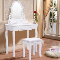 French luxury MDF mini make up dressing table with single mirror