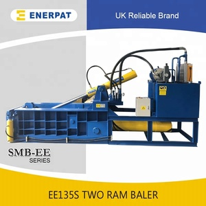 UK Enerpat Two Ram Hydraulic Beer Can Metal Baler with CE