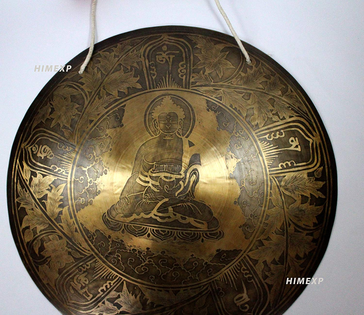 8c085af3f Get Quotations · 39 Cm Buddha Carved Super Sound Himalayan Gong from Nepal