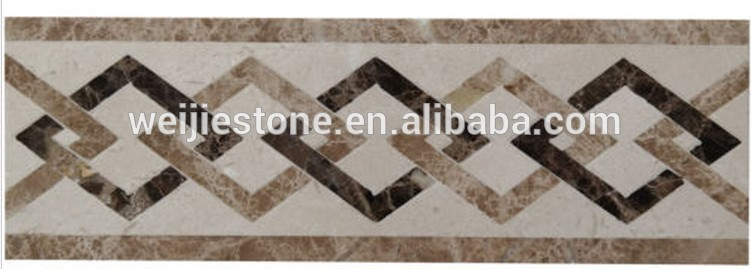 Marble water jet floor border tile design buy marble for Floor tiles border design