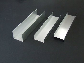 6063 aluminum U channel with high machining and anodizing