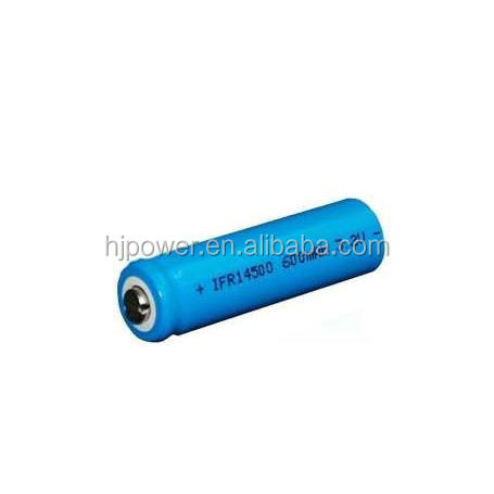 factory supply Rechargeable Lithium Cylindrical battery 3.2v 800mah IFR14500 lifepo4 battery