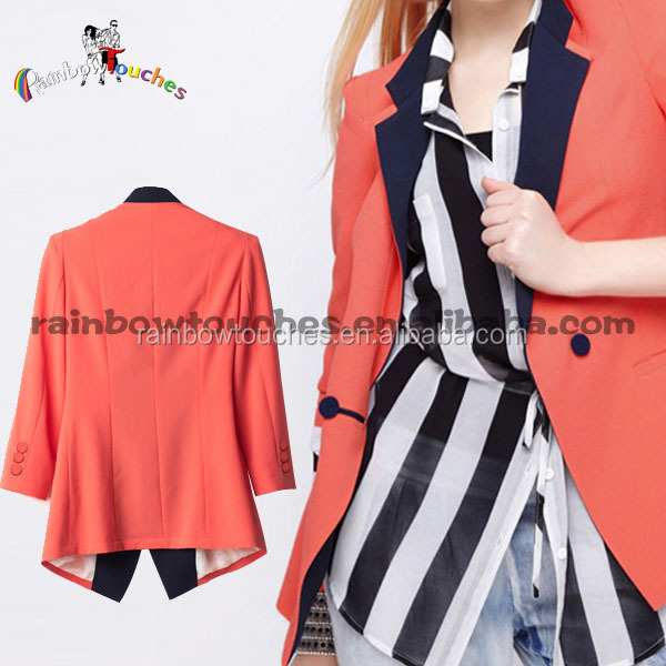 Fashion Front Button Short Design Women Fashion Coats 2015