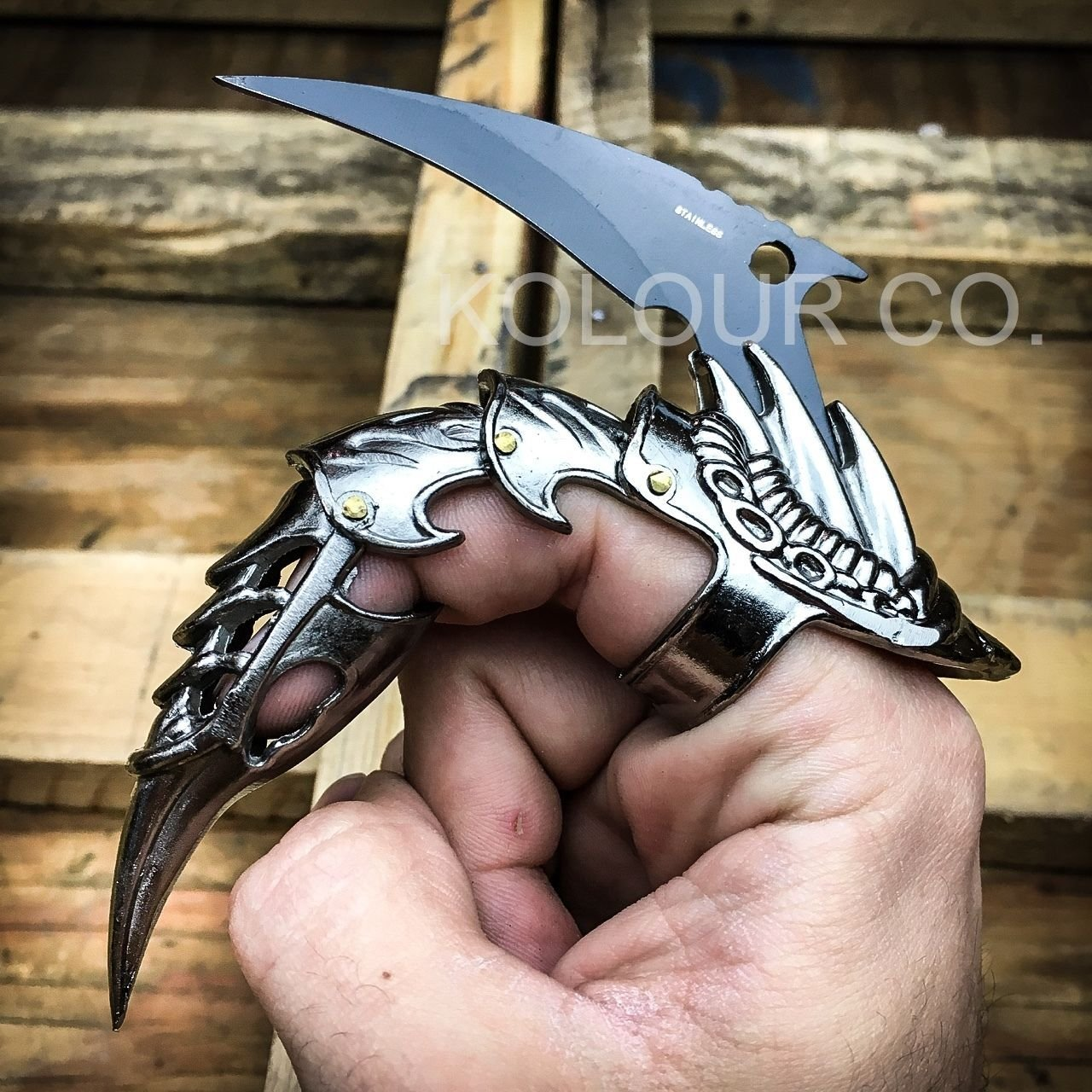 golden dragon claw finger weapons