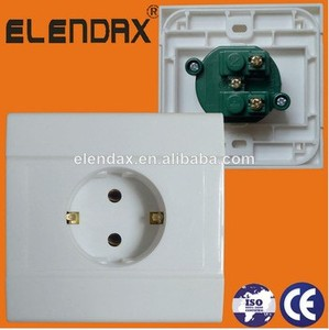 German Style Flush Mounted 16A Wall Schuko Socket (F1210)