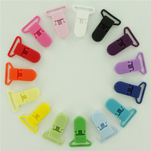 Wholesale Colorful Plastic Suspender Clips with Gripping Teeth
