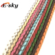High quality colorful 3mm-6mm round necklace cow genuine braided leather cord