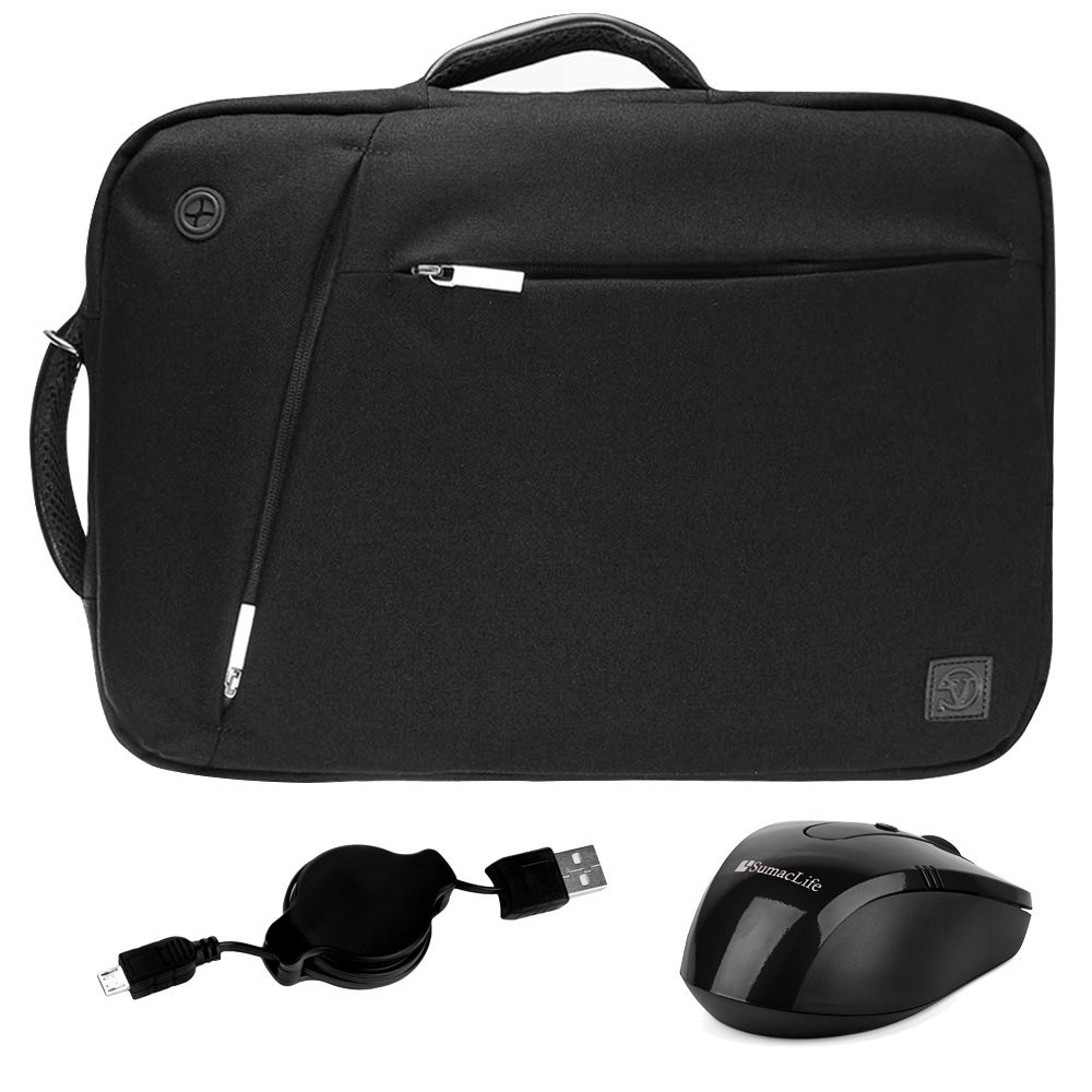 "3-in-1 Universal 15 Inch Laptop Bag Shoulder Bag Backpack Briefcase (Black) for Lenovo Flex/IdeaPad / Legion/ThinkPad / Yoga / Z50 Series 14"" 15.6"" Laptop + Micro USB Cable + Wireless Mouse"