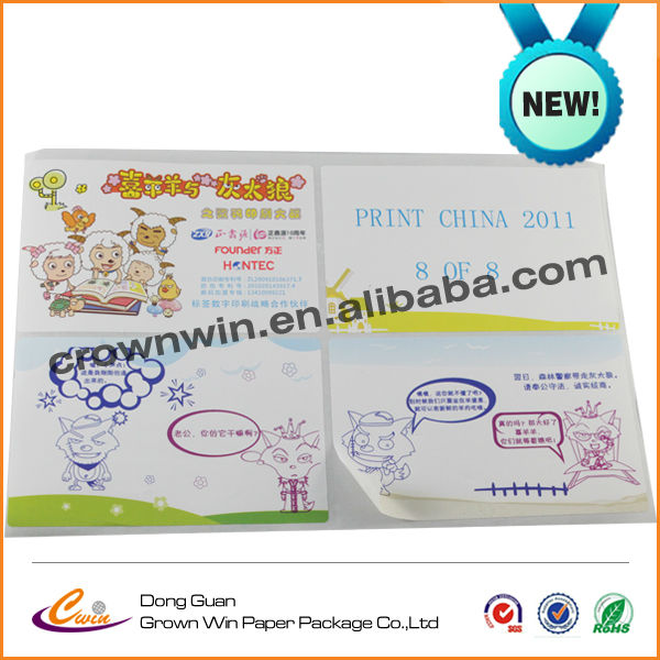 Promotional various toy label,cartoon paper toys label