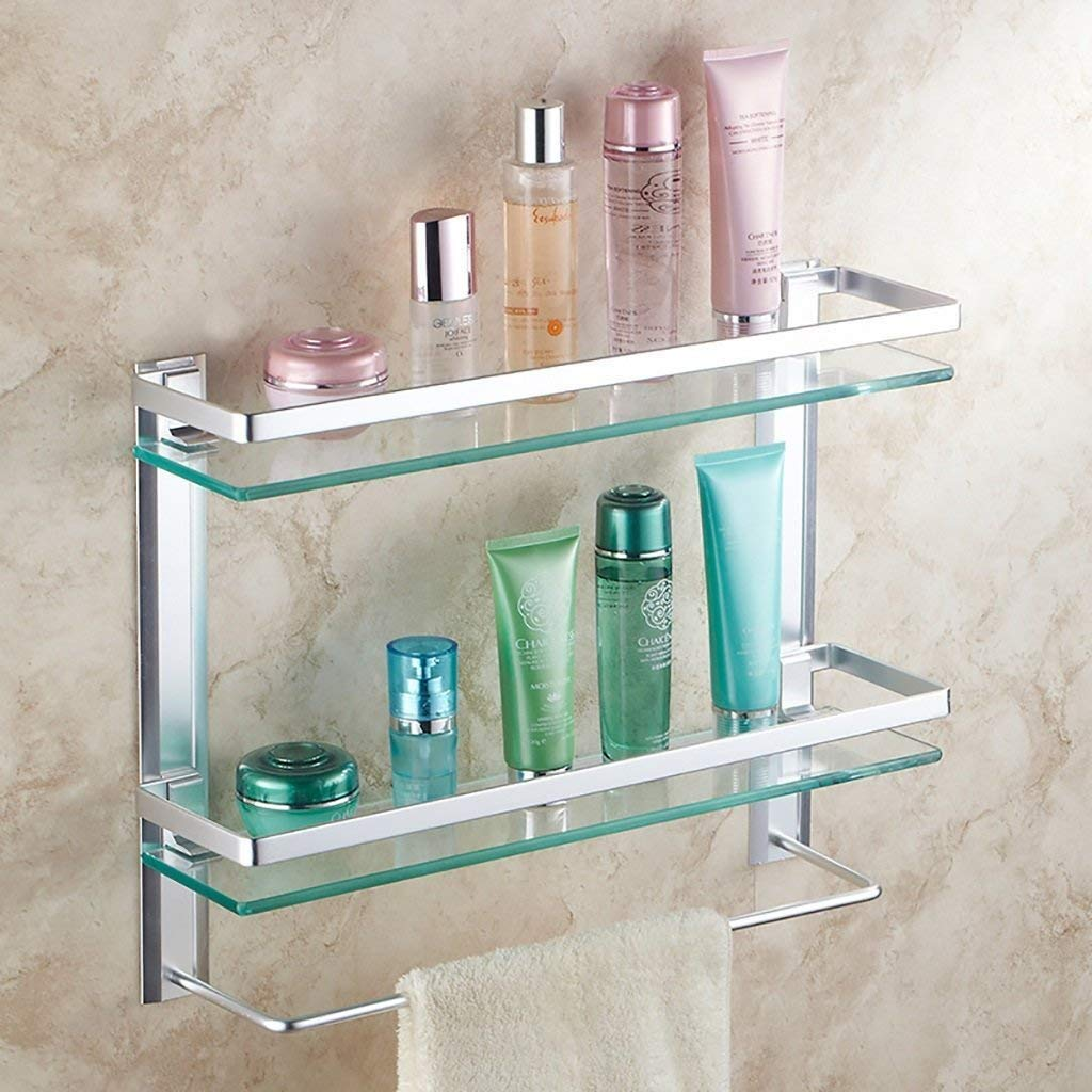 EQEQ Glass Shelf Wall Shelf/Bath Rooms, Its Size: 40/50/60 cm (Size: 60 cm).