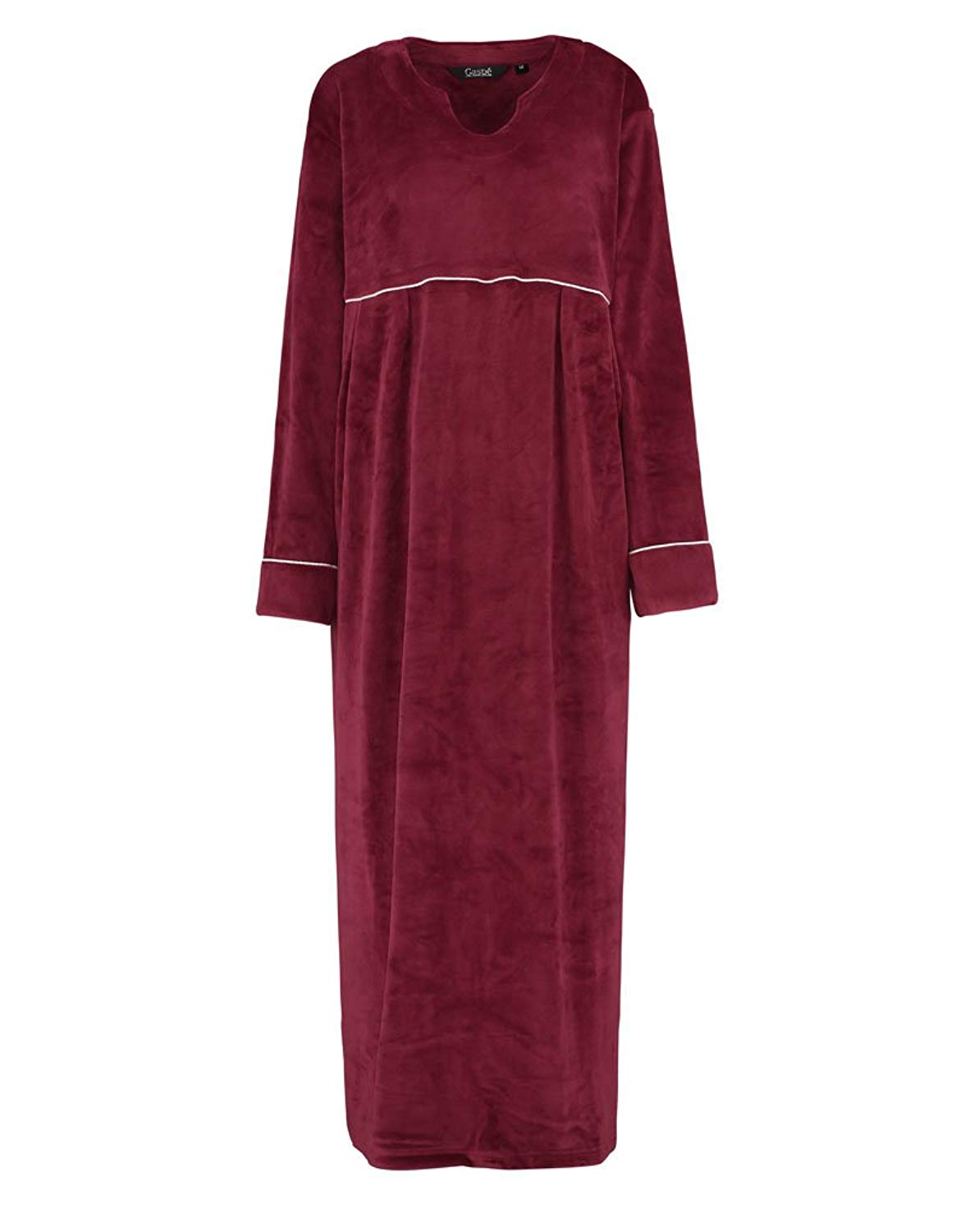 a5f1bed39b Get Quotations · Slenderella GL8748 Women s Rasberry Red Long Sleeve  Dressing Gown Robe
