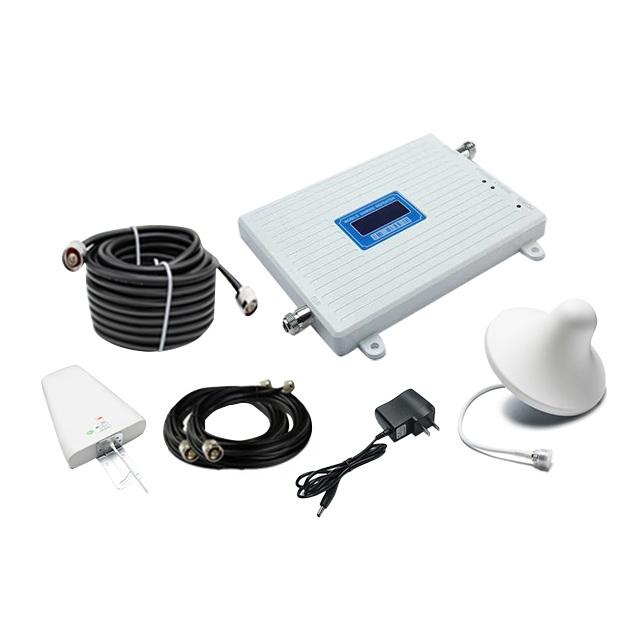 Supplément de Signal tri bande 800 1800 2100 mhz amplificateur de signal mobile