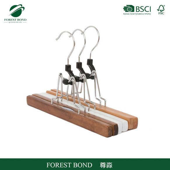 Cheap special notched wooden dress hanger