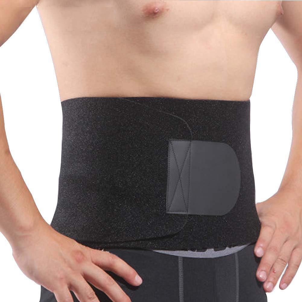 DIBIO Waist Trimmer Belt Exercise Trainer Stomach Fat Burner Low Back Lumbar Support Adjustable Ab Sauna Belt - Belly Fat Burner Slimmer for Men & Women
