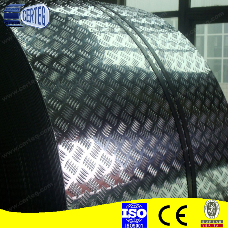 1050 1060 3003 Aluminum 5 bar pattern plate for firetrucks