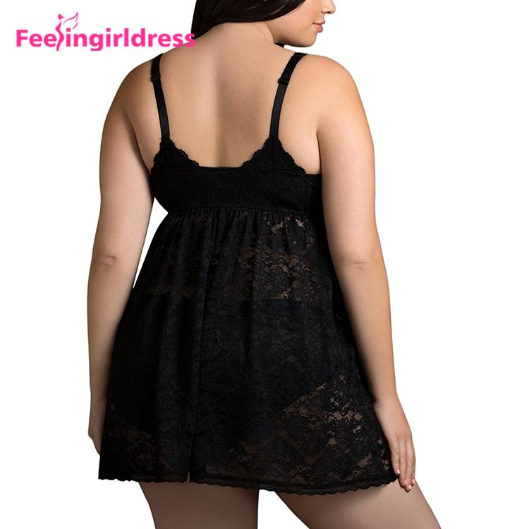 032a6221e6a Deep V Neck Sexy Big Size Babydoll Hot Plus Size Japanese Mature Women Sexy  Lingerie