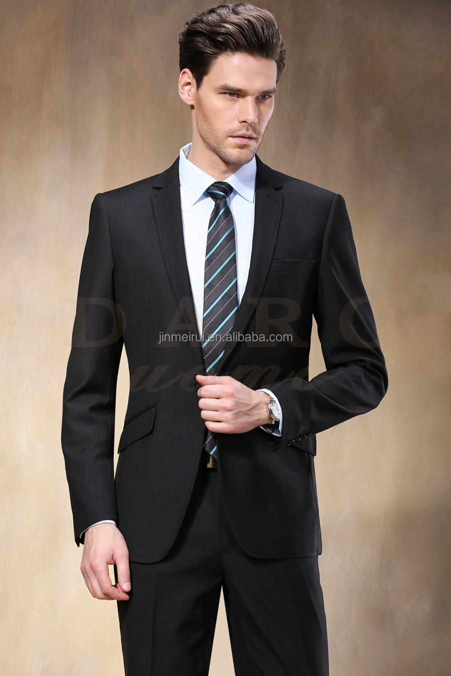 2015 Western Style Black Color Men Successful Business Suits Brand ...