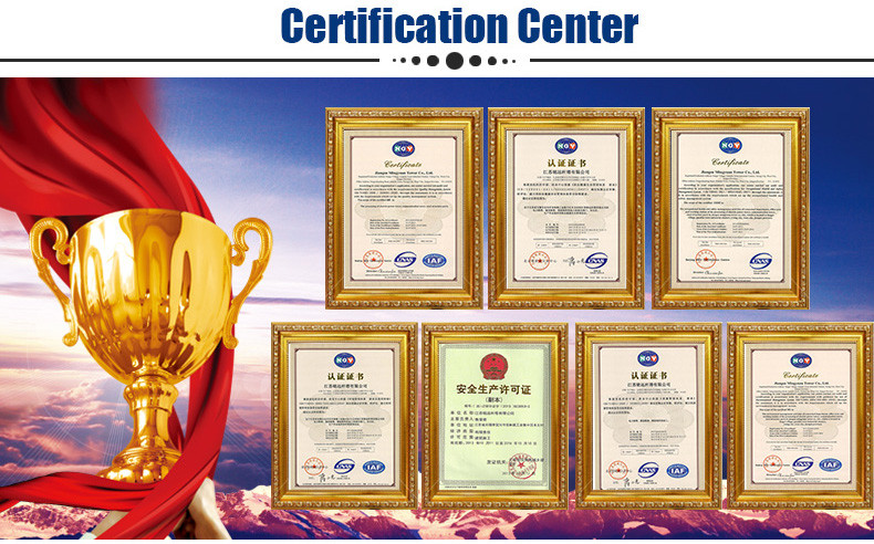 Our certification: