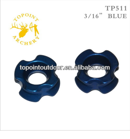 "Topoint Archery,Peep Sights,aluminum machined,3/16"",blue color,TP511-3/16-BLUE"
