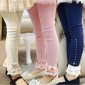 2016 new fashion spring flower girl pants baby girl leggings kids cotton legging children autumn pant